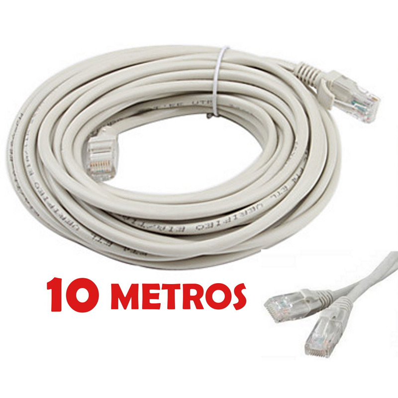 Cable de red utp rj45 10 metros for Cable ethernet 10 metros