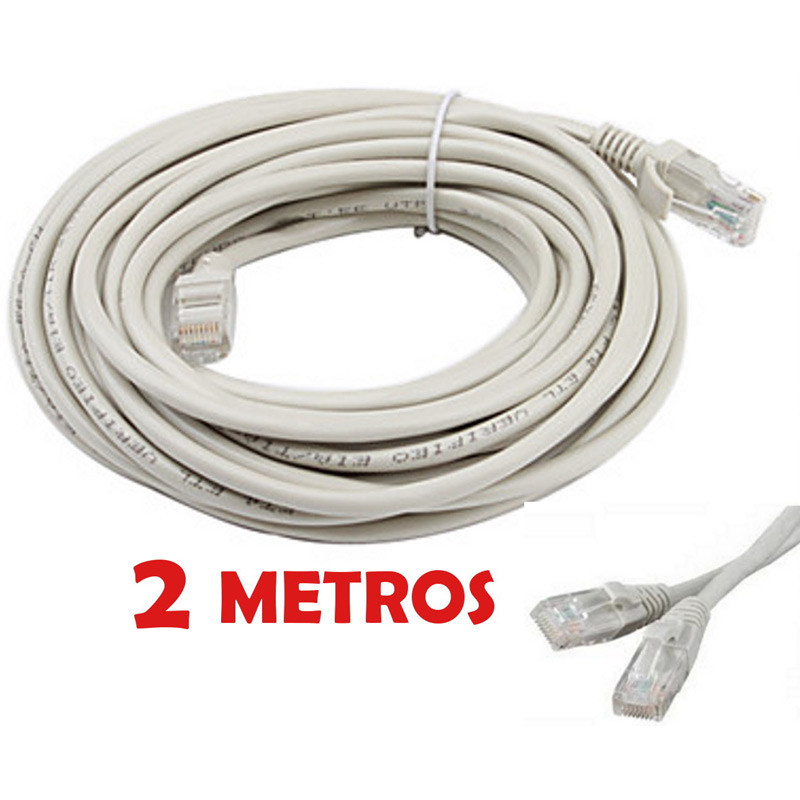 Cable de red UTP RJ45 CAT 5 de 2 metros