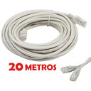 Cable de red UTP RJ45 CAT 5E de 20 metros