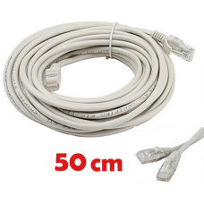 Cable de red UTP RJ45 CAT 5E de 50 cms