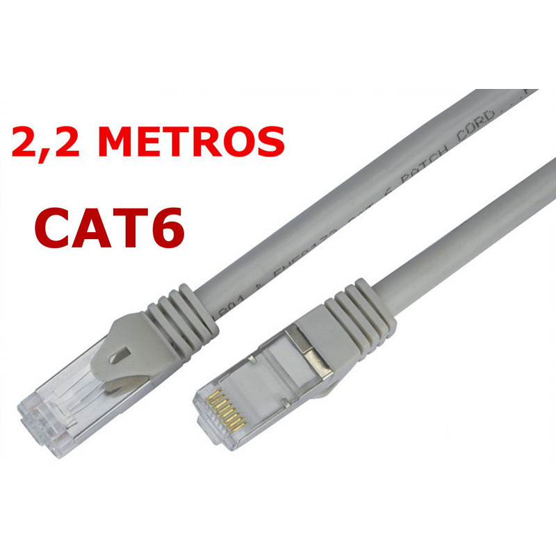 Cable de red UTP RJ45 CAT 6 de 2,2 metros