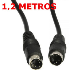 Cable S-VIDEO 4 PIN Macho-Macho 1,2 Metros
