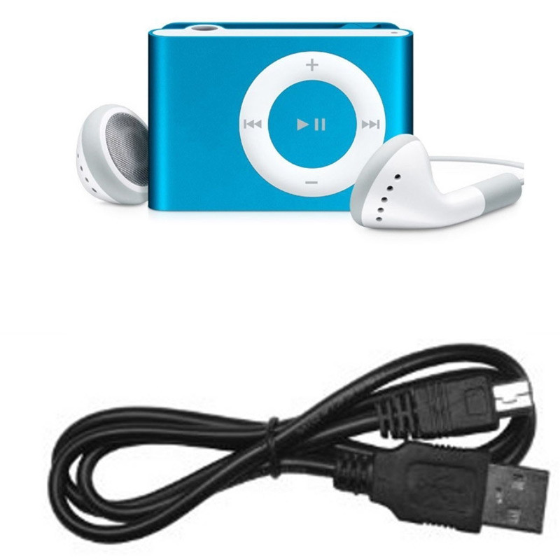 Mini Clip MP3 para Micro SD Azul