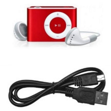 Mini Clip MP3 para Micro SD Rojo