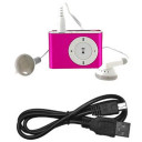 Mini Clip MP3 para Micro SD Rosa