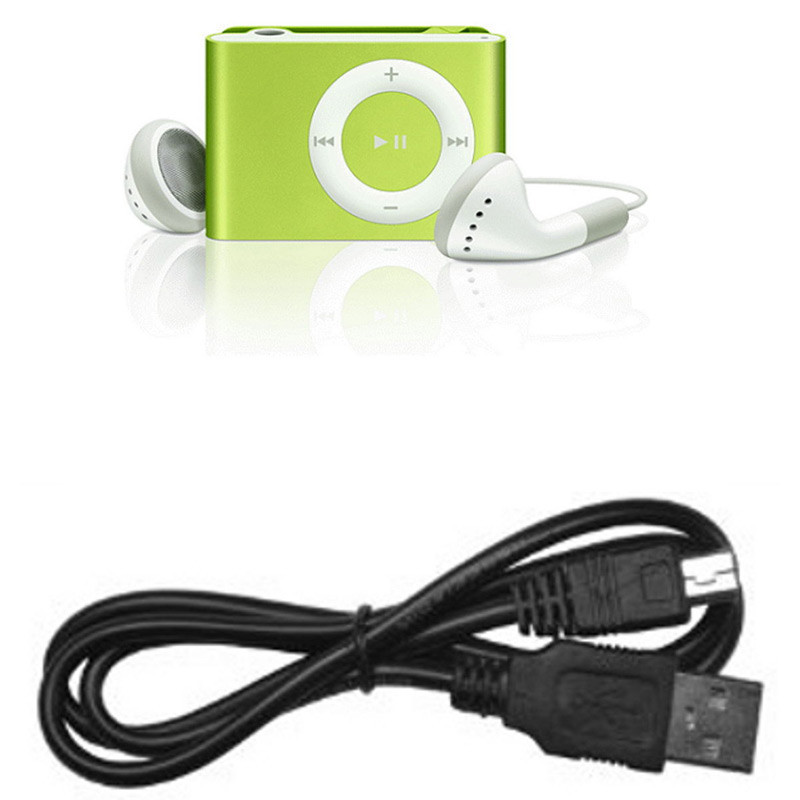 Mini Clip MP3 para Micro SD Verde