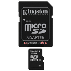 Tarjeta de Memoria KINGSTON 16 Gb. MICRO SD CLASE 10