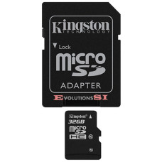 Tarjeta de Memoria KINGSTON 32 Gb. MICRO SD CLASE 10