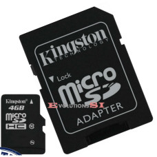 Tarjeta de Memoria KINGSTON 4 Gb. MICRO SD CLASE 10