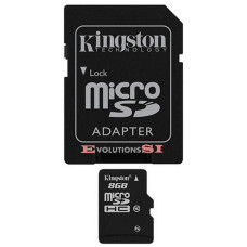 Tarjeta de Memoria KINGSTON 8 Gb. MICRO SD CLASE 10