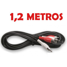 Cable Audio 2 x RCA Macho 1,2 Metros ESTEREO