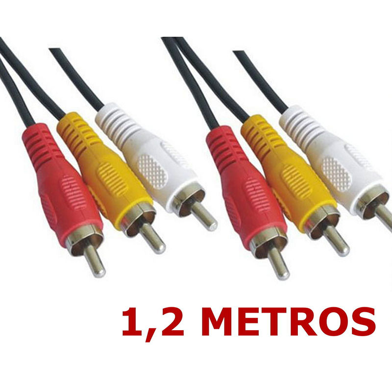Cable AUDIO y VIDEO 3 x RCA Macho-Macho 1,2 Metros