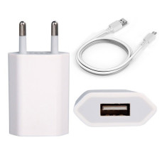 Cargador Corriente Pared USB y Cable de Datos